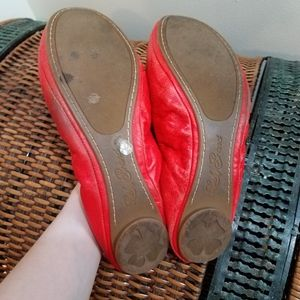 Lucky Brand Shoes - Lucky Brand red leather emmie scrunchie flats 10